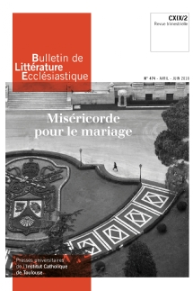 image bulletin-de-litterature-ecclesiastique-n0474-avril-juin-2018-9770743224742