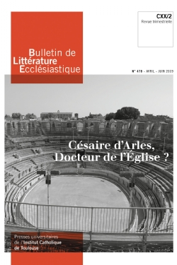 image bulletin-de-litterature-ecclesiastique-n0478-avril-juin-2019-9770743224780