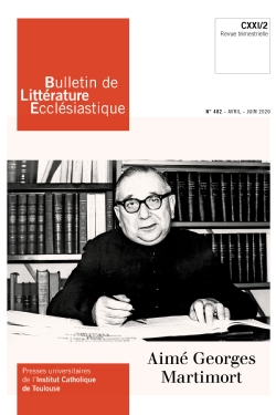image bulletin-de-litterature-ecclesiastique-n0482-avril-juin-2020-9770743224827